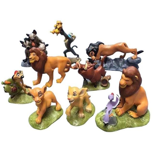 9 шт./компл. лев Король фигурка игрушки животное фигурка льва кукла игрушки Simba Nala Тимон Модель Классические игрушки