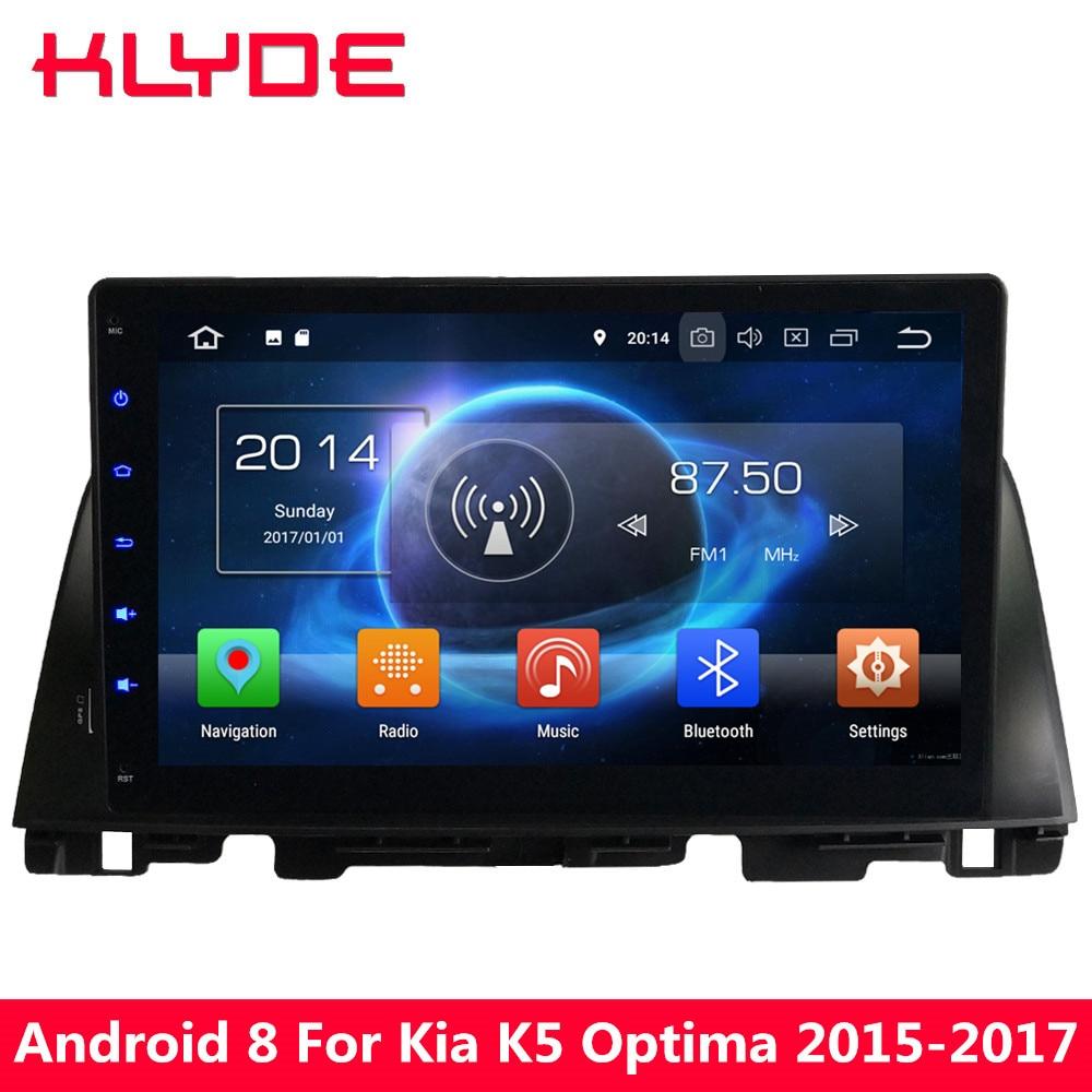 KLYDE 4 gb RAM 32 gb ROM 10.1 Android 8.0 7.1 6.0 Octa Core PX5 4g WIFI DAB DVD de voiture Lecteur Multimédia Pour Kia Optima K5 2015-2018