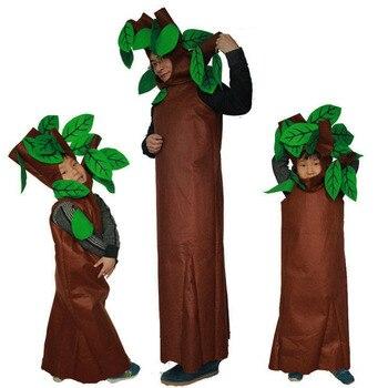 Adulti e Bambini Del Partito di Halloween Costumi Per Bambini Verde Alberi Cosplay Vestiti Del Partito Del Costume Del Vestito di Famiglia