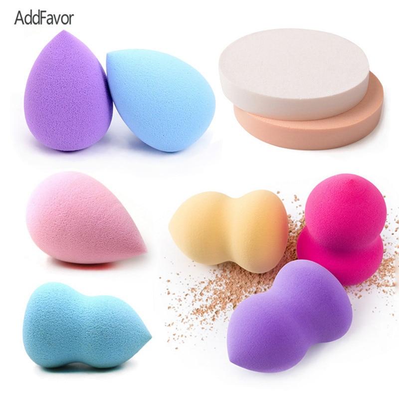 AddFavor 2Pc Latex-free Sponge Face Blush Makeup Sponge Powder Puff Wet Cosmetic Sponges Beauty Essential Cream Foundation Puff