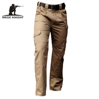 Mege Brand Clothing Men Tactical Pants Army Military Casual Solid Multi pockets Cargo Pants Wear Resistent Male Trousers Ripstop