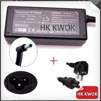 Trasporto libero ue cavo di alimentazione + 19.5 v 3.33a 4.5*3.0mm ac adapter charger 65 w per hp envy touchsmart 15-j009wm 14-k001tx notebook