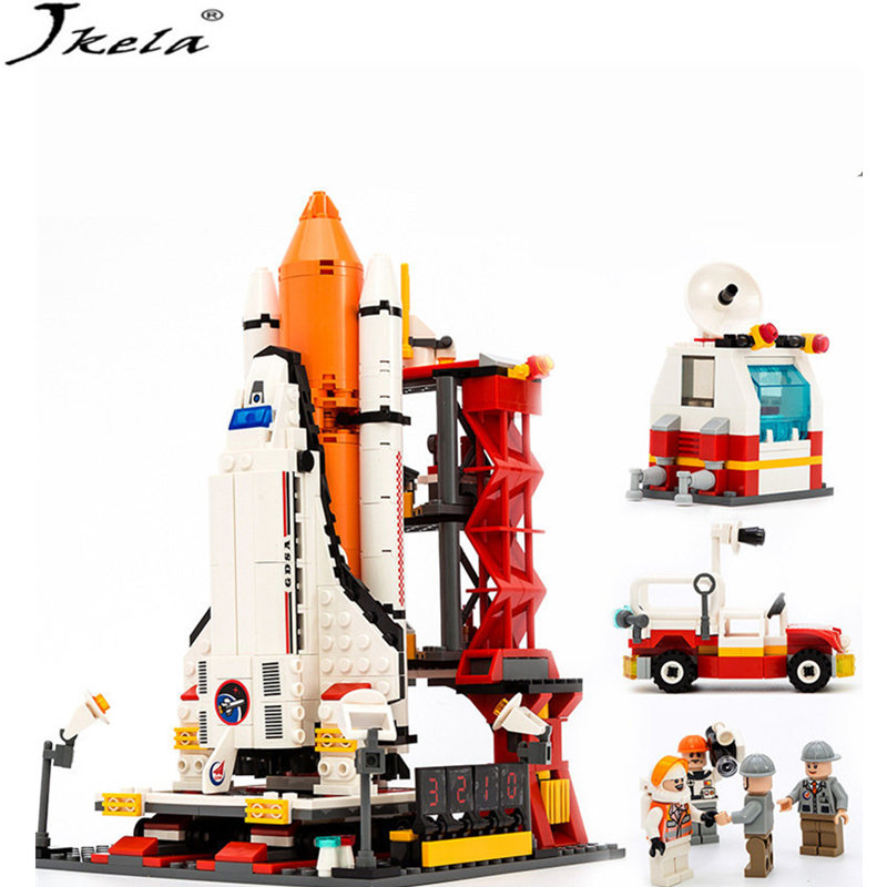[Jkela] 679pcs Space Shuttle Building Block Launch center Educational Classic Toys For ChildrenCompatible with Legoingly city