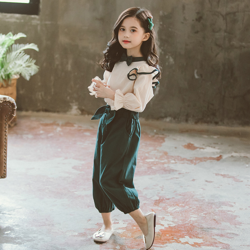 Image 4 - 2020 New Girls Clothes Autumn Girls Clothing Sets Kids Girls 2pcs  Suits Kids Clothes for Girls Blouses Shirts   Pants 8 10 12 14Clothing  Sets