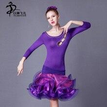Latin Dance Costume Latin salsa tango Cha Cha Ballroom Flamenco dress 6 colors