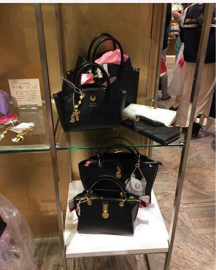 Sailor Moon LUNA Moon Stick leather shopping handbag shoulder bag Japanese Girls Sailor Moon  anniversary moon flac jeans