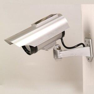 Image 2 - שמש מופעל חיצוני טלוויזיה במעגל סגור אבטחת בית הדמה מזויף Dummy מצלמה עם מהבהב אינפרא אדום LED אורות וידאו מצלמות מעקב