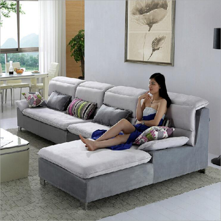 где купить living room furniture modern fabric sofa European sectional sofa set o1205 по лучшей цене