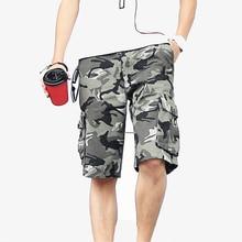 2019 Summer Men army green Camouflage Shorts Casual Camo Knee-length Mens Cargo Short trousers bermudas hombre short