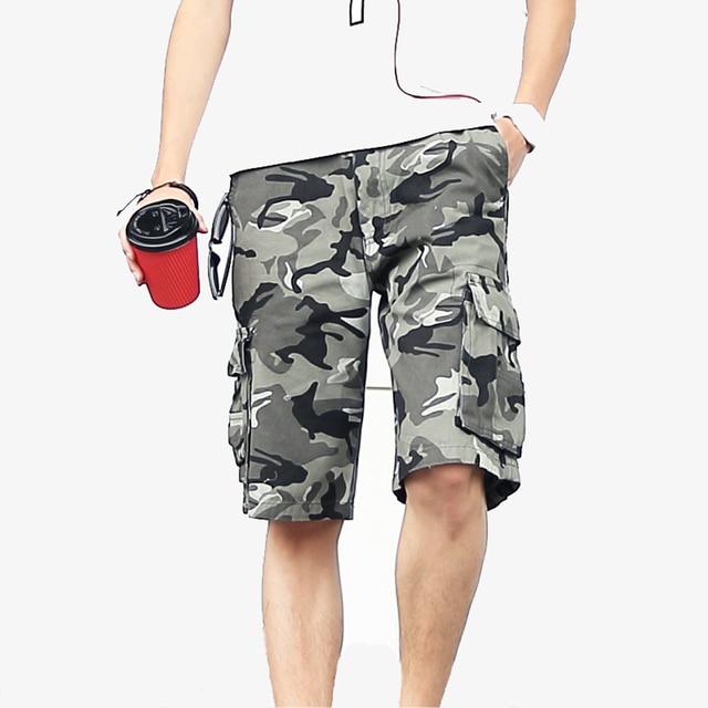 Korte Broek Camouflage Heren.Goedkope Verkoop 2019 Zomer Mannen Army Green Camouflage Shorts