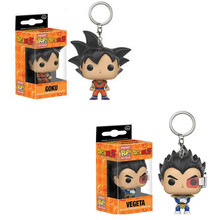FUNKO POP New Bolso Keychain Pop Oficial Personagens de Dragon Ball Goku Vegeta Action Figure Collectible Modelo Brinquedos de Natal(China)