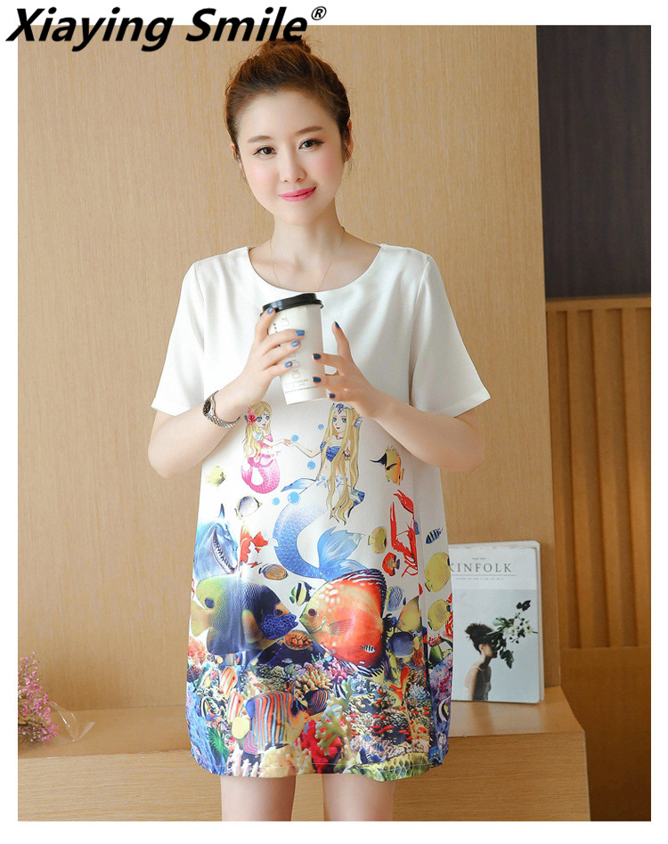 Xiaying Smile A L Women Dress Female Fashion All-Match Boat Neck Sexy loose Embroidery Striped Casual comfortable womanizer pro