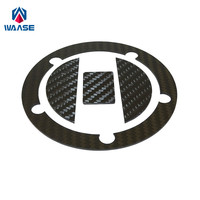 waase Motorcycle Real Carbon Fiber Fuel Cap Filler Pad Cover For Suzuki GSXR 600 750 2004 2005 2006 2007 2008 2009 2010 2016