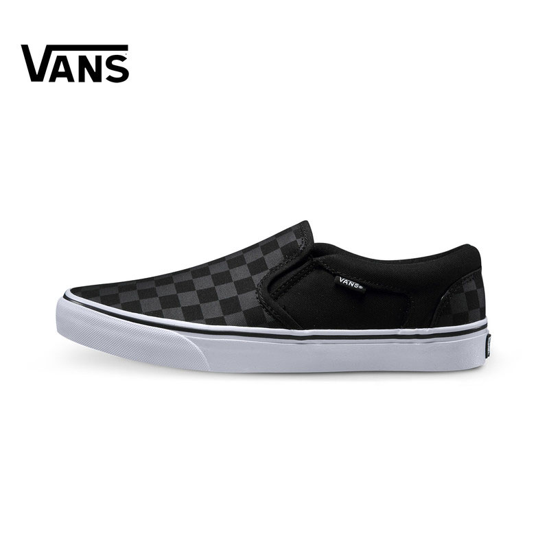 Original Vans Sneakers Men's Women's Active Asher Low-top Skateboarding Shoes Sneakers Comfortable Canvas Shoes VN000SEQ542 солевая лампа zenet zet 122 тюльпан