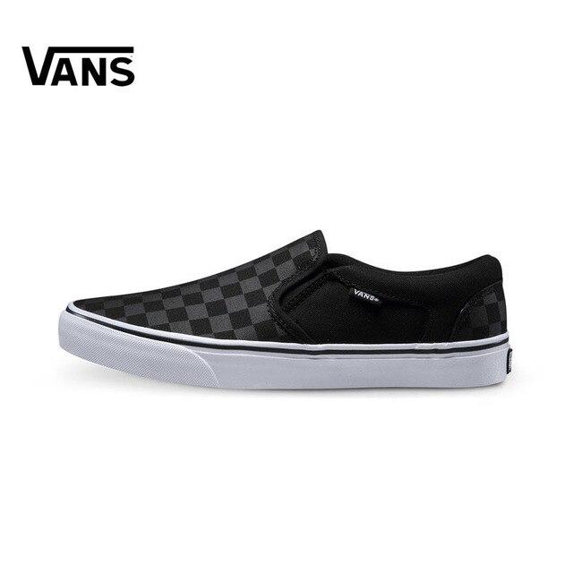 cd1eace9cb5 Original Vans Sneakers Men s Women s Active Asher Low-top Skateboarding  Shoes Sneakers Comfortable Canvas Shoes VN000SEQ542