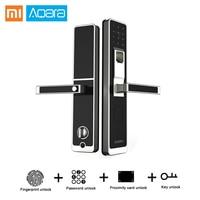Оригинальный Xiaomi Aqara Smart Lock дверь сенсорный ZigBee Wifi электронный замок приложение Управление для дома безопасности Поддержка IOS Android