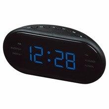New Fashion Modern AM/FM LED Clock Radio Electronic Desktop Alarm Clock Digital Table Clocks Snooze Function For Home Office -48