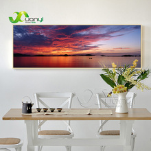 Single Canvs Wall Art Abstract Seascape Oil Painting Home Decor Pictures For Living Room Spray Unframed