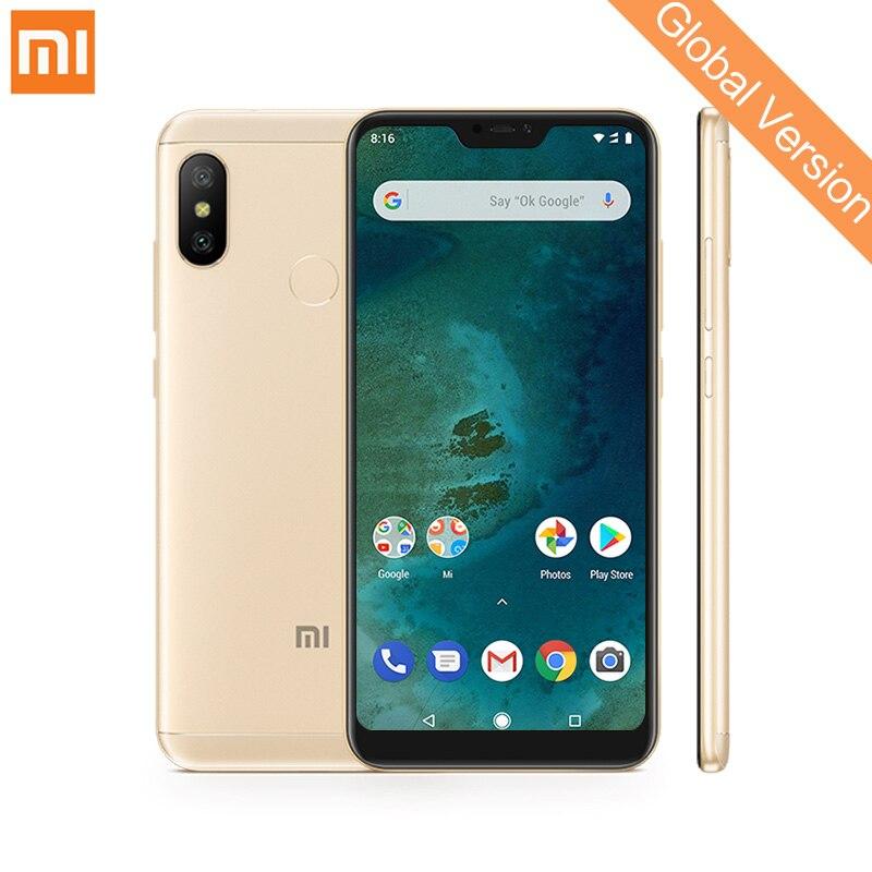 Mondial Version Xiao mi mi A2 Lite 3 gb 32 gb Smartphones Snapdragon 625 Octa base 5.84 Plein Écran 12MP + 5MP Double Caméra 4000 mah