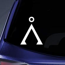 Bargain Max Decals - Stargate Earth Inspired Logo Sticker Decal Notebook Car Laptop 5 (White)