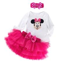 YK & Loving Set para Linda ropa de bebé niña Camiseta de manga larga + faldas de tutú rojo rosa para bebé falda con lazo de tules Multicolor