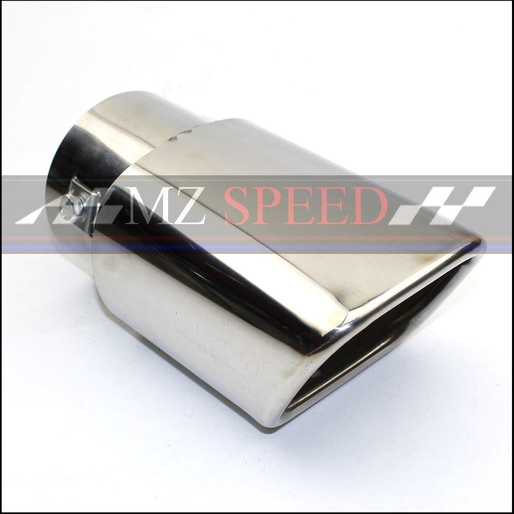 1 Uds coche Universal Dual del coche silenciador de Acero Inoxidable punta del escapar tubo de escape Silenciador la punta de la cola