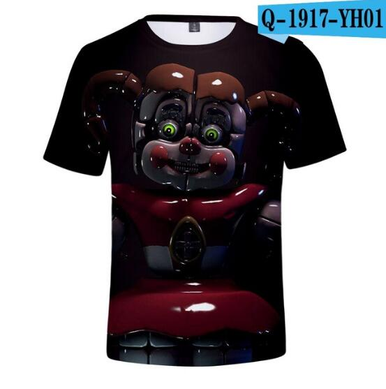 Short-Sleeve Design Fashion Boys/girls Five-Nights Summer Brand Hot At 3D Freddy Hip-Hop