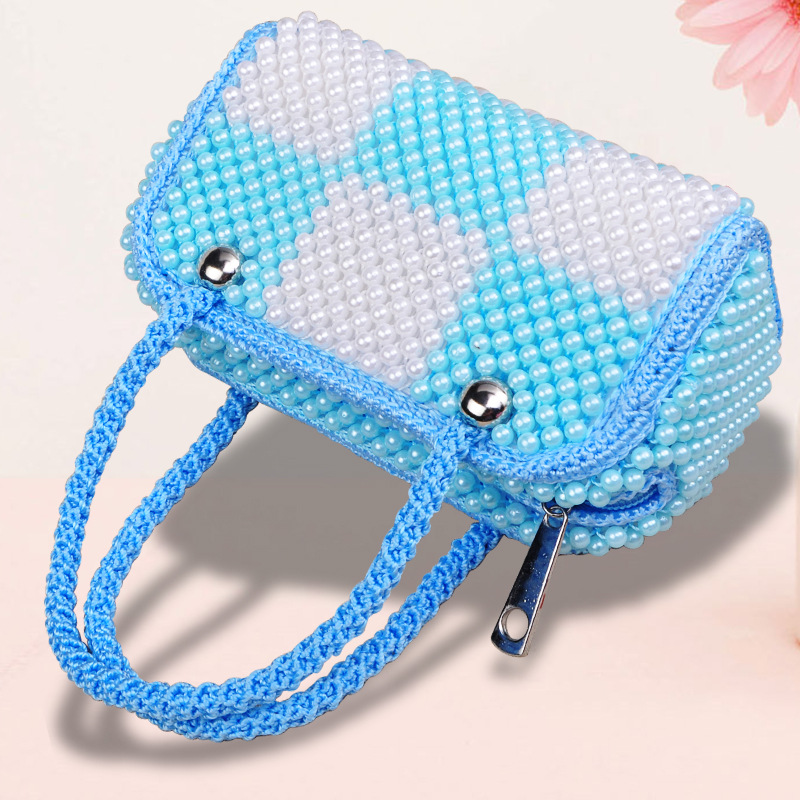 Ladies Handbag Handmade Beaded Bag Ladies Bag G094 Pearl Double Bag ...