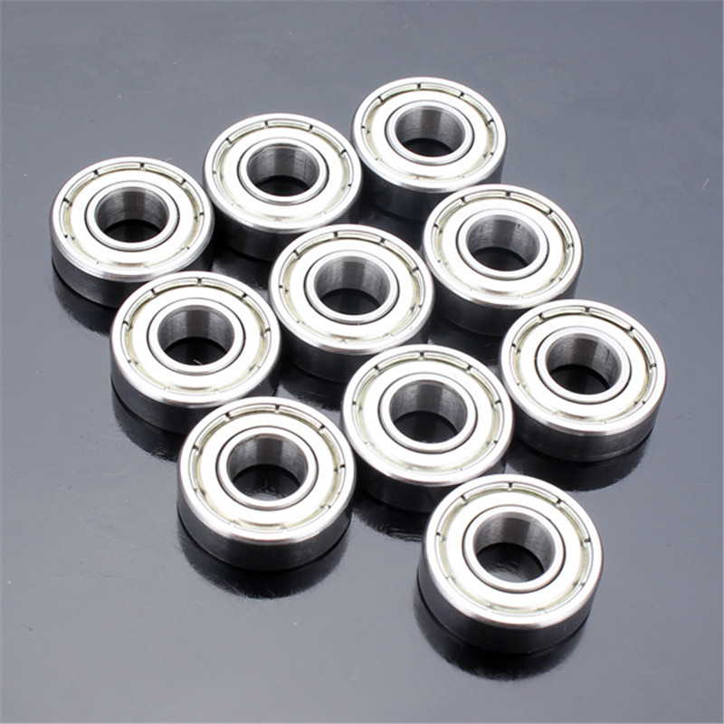 Brand New Durable 10pcs 10x19x5mm Steel Sealed Shielded Deep Groove Ball Bearing <font><b>6800zz</b></font> For Machine Tools image