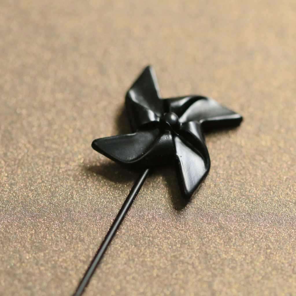 Baru Asli Sederhana Kincir Angin Bros Pin Fashion Kerah Bros Kerah Pin Selendang Syal Gesper Cardigan Klip untuk Wanita Perhiasan