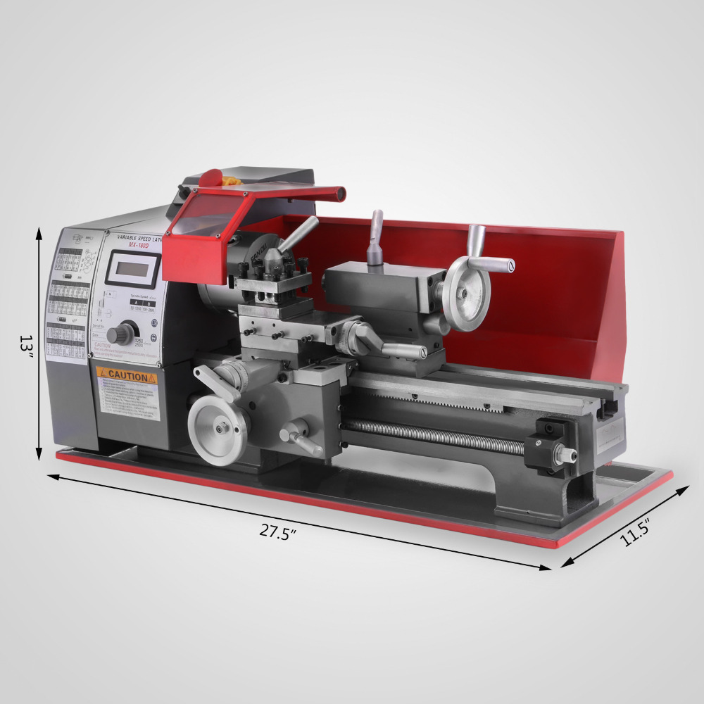 EU In Stock Mini Lathe 2500 RPM 600W Mini Metal Lathe Variable Speed Milling Benchtop Wood Lathe Metal Lathe 7 X 12 Inch