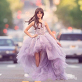 Лаванда Детские Платья 2017 Девушки Бальное платье Платье Дети Pageant Платья Для Девочек Блеск Платья Для Подружек Невесты