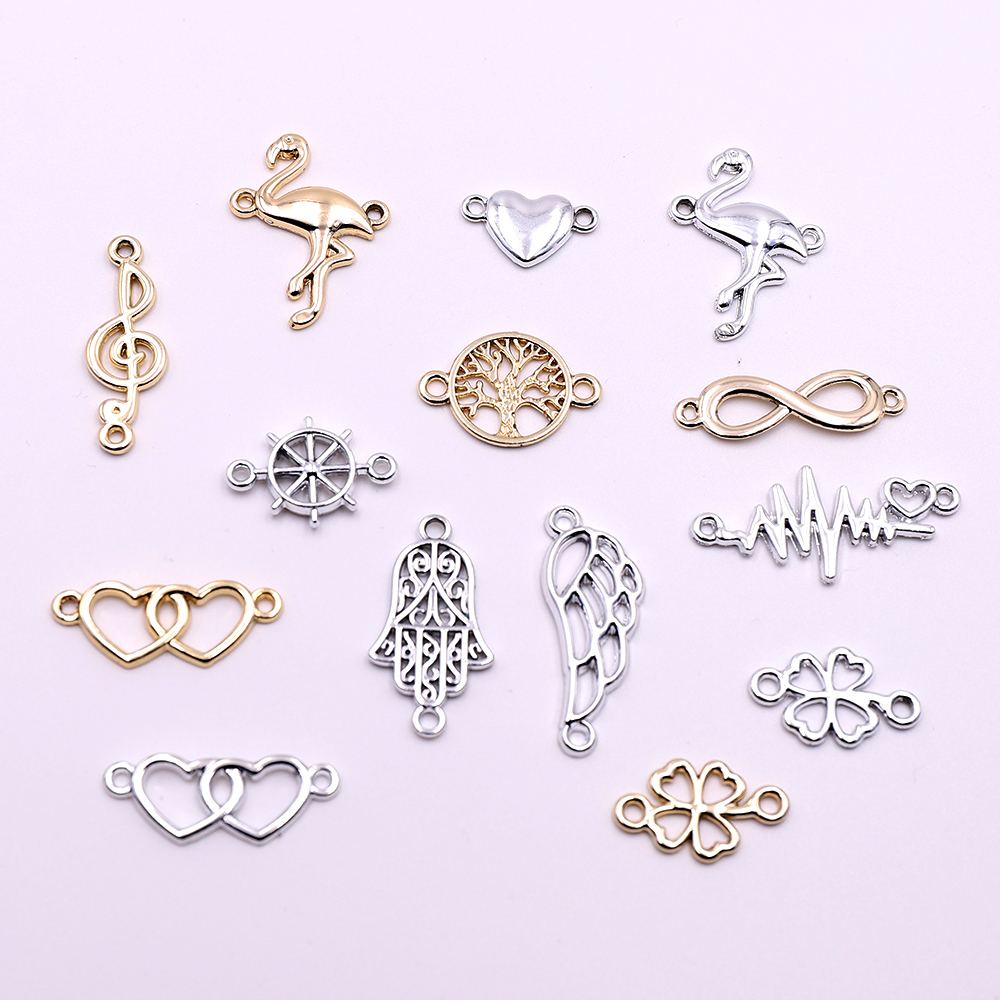 Hot 10pcs Gold And Silver Connectors Charms Components Animal Connectors Accessories For DIY Jewelry Making Wholesale Price