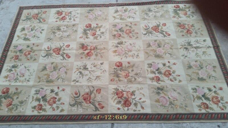Livraison gratuite 10 K 6'x9 'tapis à l'aiguille 100% nouvelle-zélande laine tapis faits à la main tapis pour la décoration de la maison