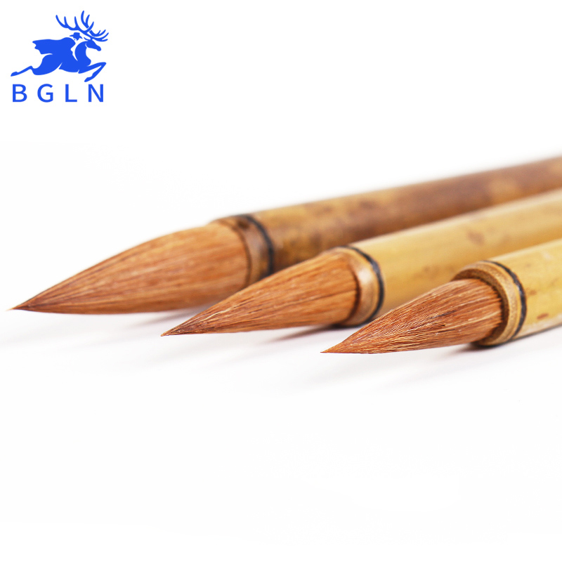 BGLN 3Pcs/set High Quality Weasel Hair Chinese Calligraphy Brushes Pen For Writing Brush Suitable For Student School Art Supplie top grade high quality masters pen the fine quality goods of brushes boxed gift calligraphy brushes pen chinese brushes gift