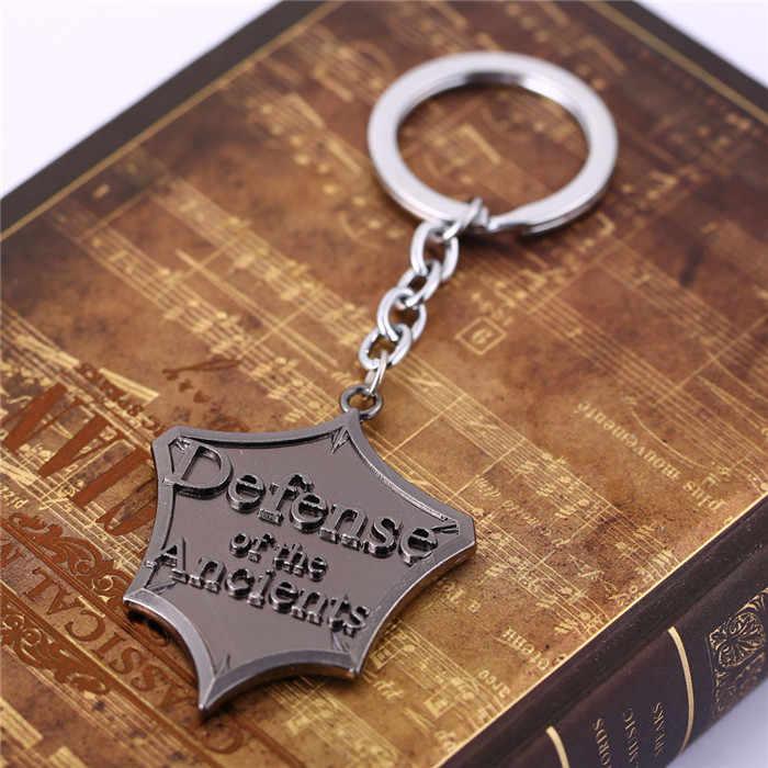 Ti8 H & F Горячая игры DOTA 2 оборона древних металлический брелок Chaveiro Llavevos кулон коллекцию украшений хорошее подарок для Для мужчин