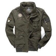 Новый военный Для мужчин 101 летные куртки съемный рукав Повседневное с капюшоном Для мужчин Мульти-карман рабочие куртка M ~ 4XL BF657