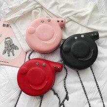 Crossbody Bags for Women 2019 Cartoon Cute Pink Pig Handbag Casual Chain Designer Handbags High Quality Shoulder Bag Round