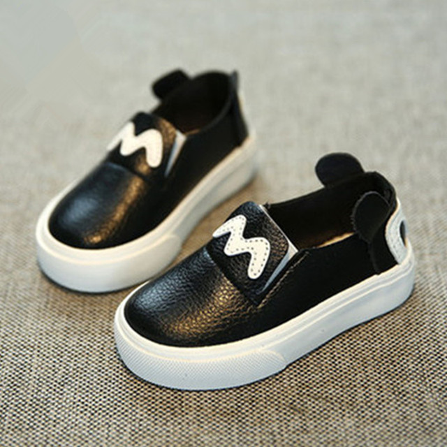 Children shoes boys baby shoes girls 1 - 3 years old Artificial leather 2016 spring autumn foot wrapping lounged toddler shoes