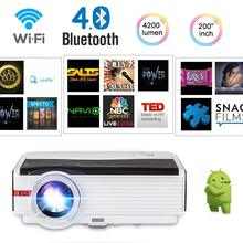 CAIWEI Android 6.0 OS LCD HD Video Projector Home Theater WIFI Bluetooth LED Beamer Wireless Sync Screen 5000 Lumens