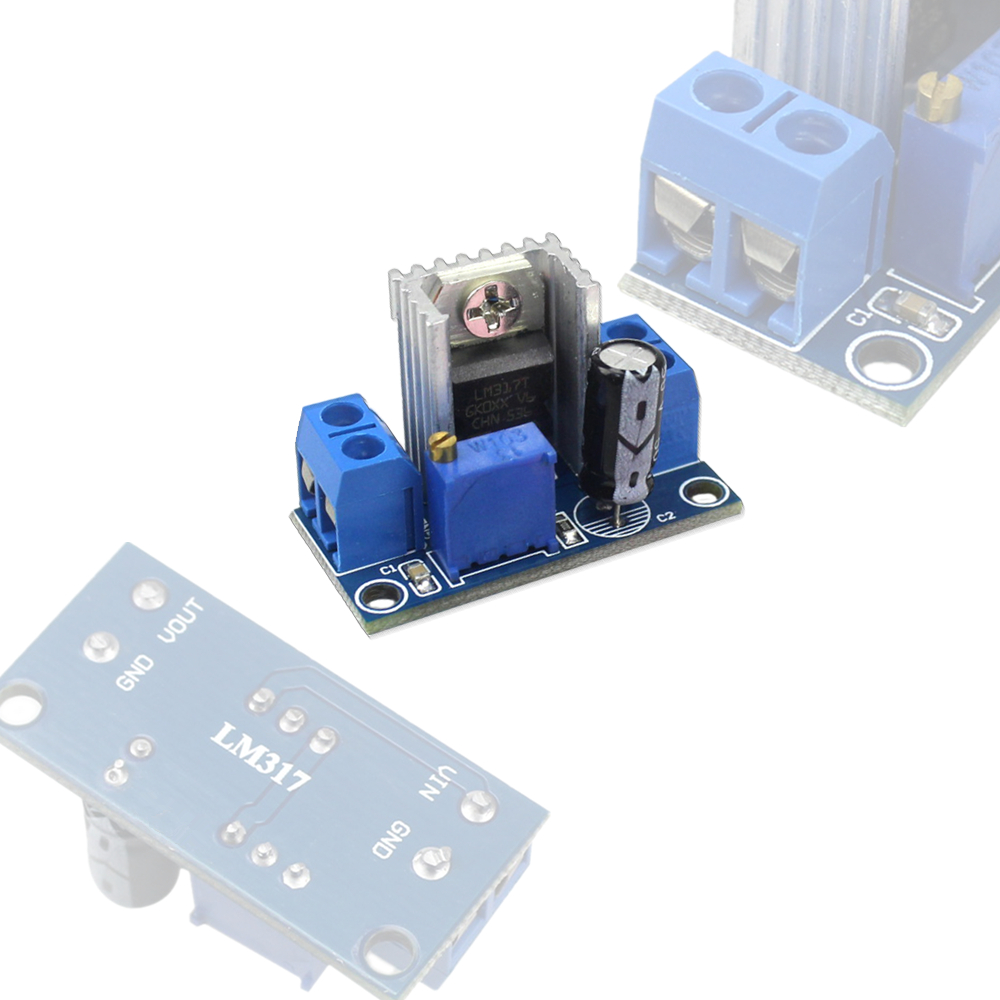 Lm317 Dc Converter Buck Step Down Circuit Board Module Linear Led Driver Regulator Adjustable Voltage Power Supply In Integrated Circuits From