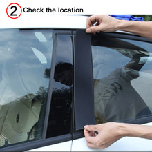 цена на 10pcs Car Door Window Pillar Posts Piano Trim Cover Kit Fit For Mazda CX-5 CX5 2011 2012 2013 2014 2015 2016 2017 2018