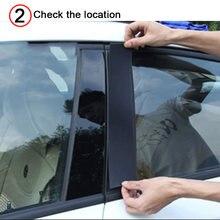 Matiz da janela para o piano do carro preto janela centro pilar adesivo para k2 k3 k4 k5 cerato kx3 kx5 acessórios do carro exterior