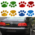 Car Window Bumper Body Decal Sticker Bear Dog Animal Paw Foot Prints Style Anime Accessories For Car Cute Car Reflective Sticker