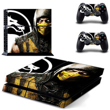 Game Mortal Kombat PS4 Skin Sticker Decal Vinyl for Sony Playstation 4 Console and 2 Controllers PS4 Skin Sticker