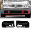 2Pcs left Right Front Bumper Fog Lamp Light Grille Bezel For Volkswagen Golf MK5 Rabbit 2005-2008