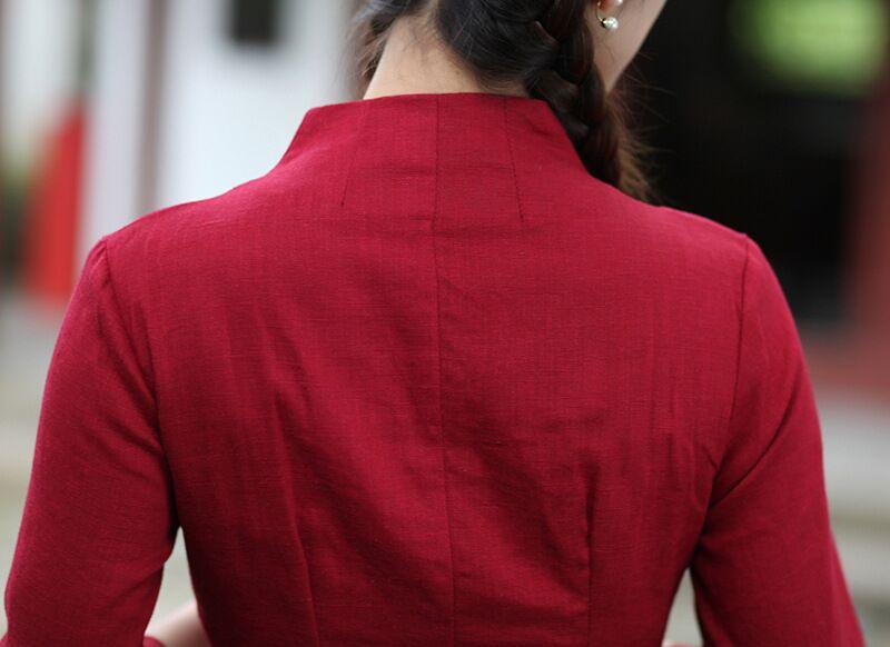 Blusa Lino Para rojo De Tops Roja Talla ¡oferta M Mujer Blue 2615 Tradicional 1 Xl Xxl Algodón S blanco Light Chino Camiseta L Xxxl Estilo Fqtxw8