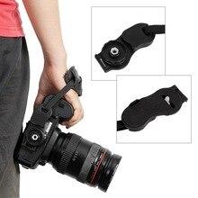 ใหม่ PU หนัง Grip Rapid สายคล้องข้อมือ Soft Hand Grip กระเป๋ากล้องสำหรับ Canon สำหรับ Nikon สำหรับ Sony olympus สีดำ