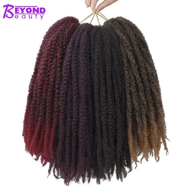 Afro Kinky Marley Braids Hair 18inch Soft Jumbo Crochet Braids Nappy