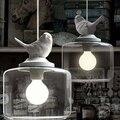 País da américa lâmpada led e27 lâmpada pingente de vidro branco pingente de pássaro quarto/sala de jantar/varanda do quarto de criança decor lamp1479